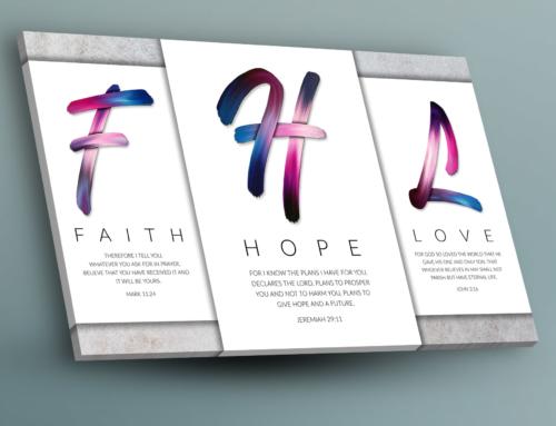 Posters: Faith Hope Love